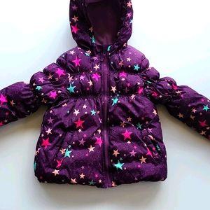 Cherokee Stars Puffer Jacket Girls size 5T